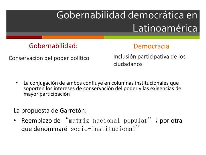 Gobernabilidad democrática en Latinoamérica