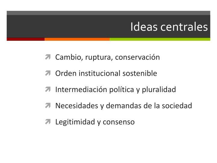 Ideas centrales