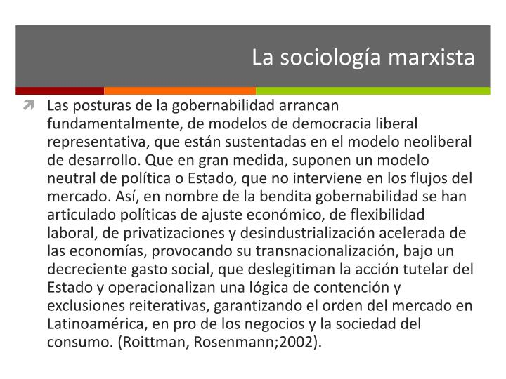 La sociología marxista