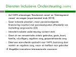 diensten inclusieve o ndersteuning vaph
