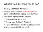 what is god directing you to do