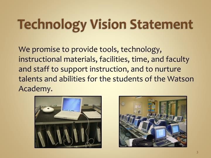 Technology vision statement