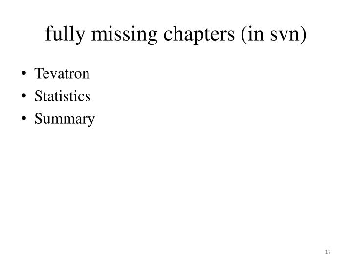 fully missing chapters (in