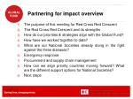 partnering for impact overview
