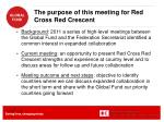the purpose of this meeting for red cross red crescent1