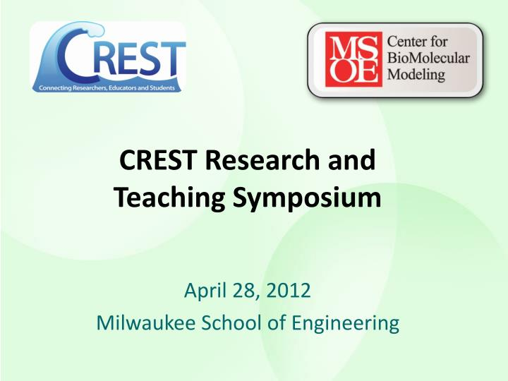 crest research and teaching symposium n.