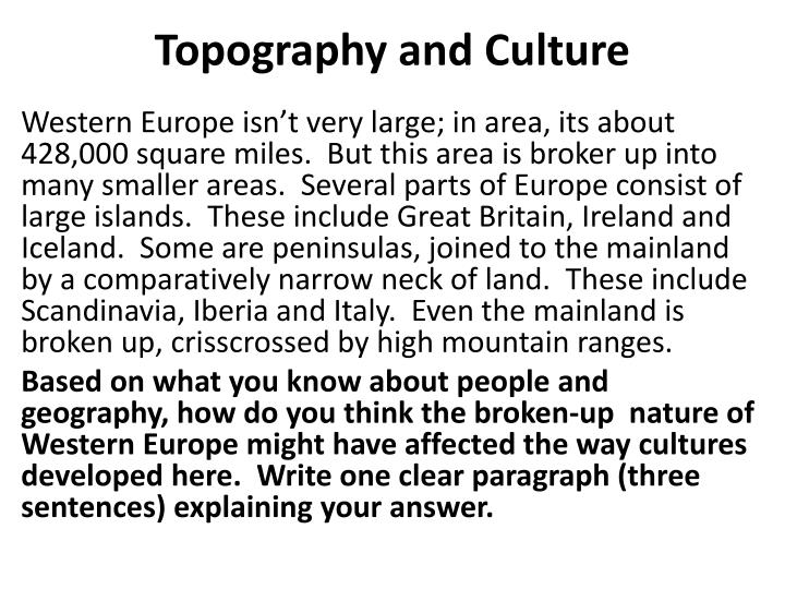 topography and culture