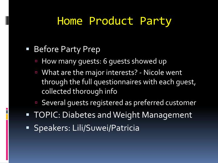 Home Product Party