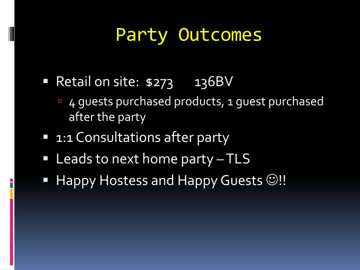 Party Outcomes