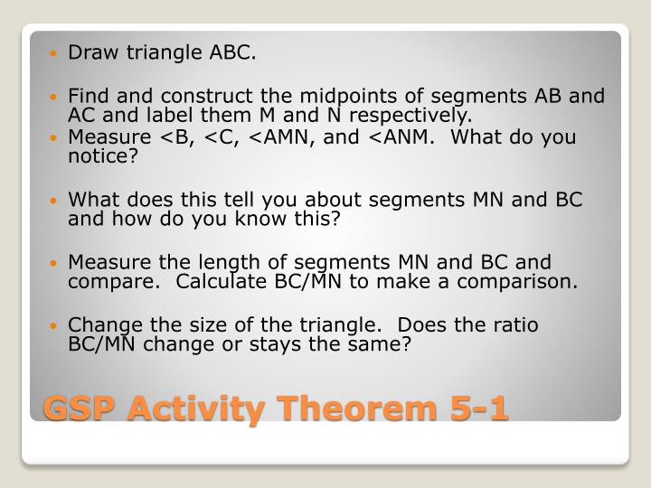 Gsp activity theorem 5 1