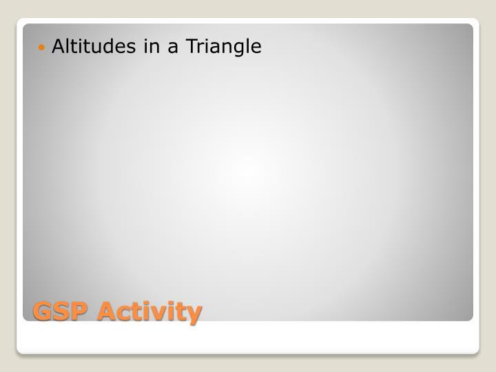 Altitudes in a Triangle