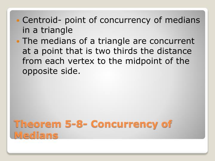 Centroid- point