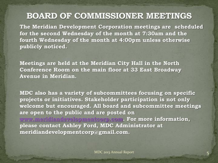 BOARD OF COMMISSIONER
