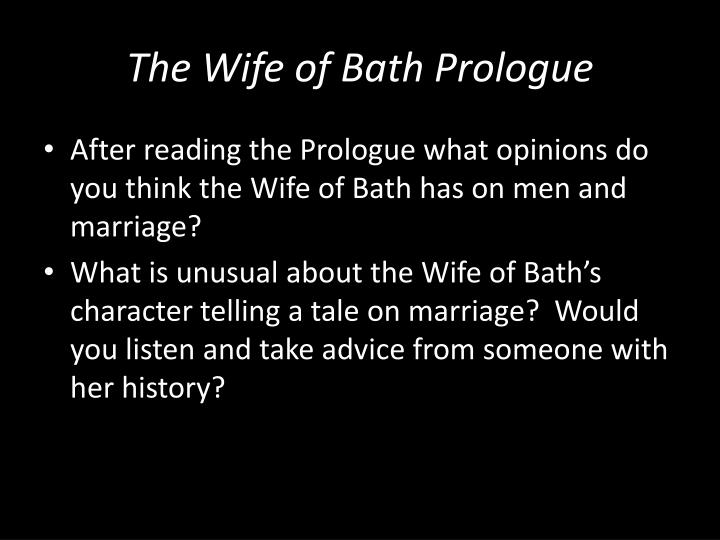 a view on marriage by the wife of bath
