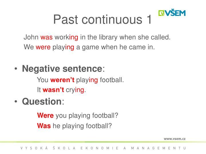 Past continuous 1