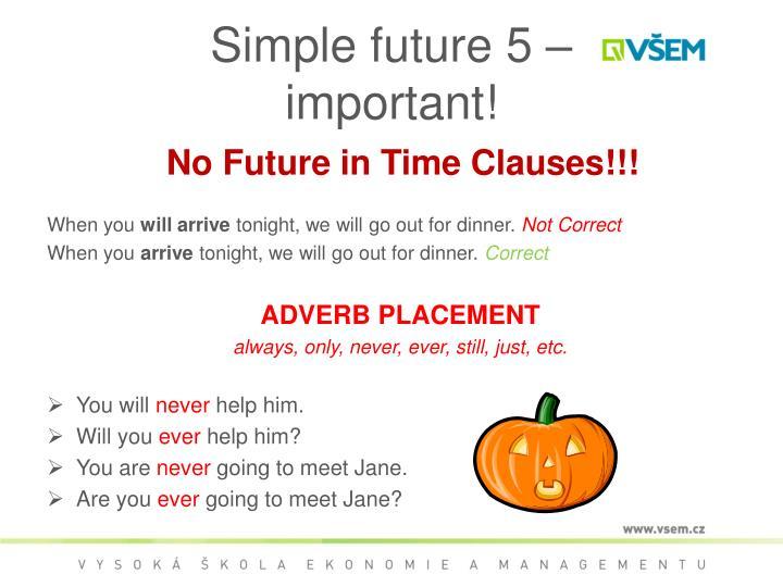 Simple future 5 –