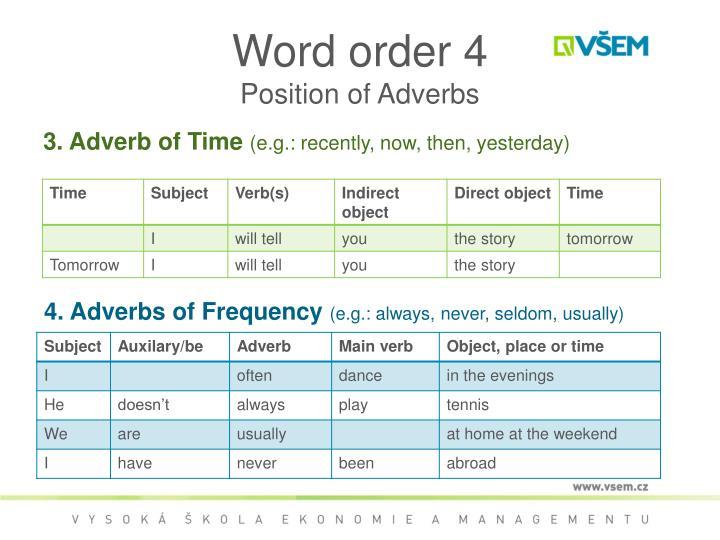 Word order 4