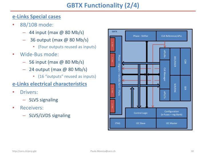 GBTX Functionality (2/4)