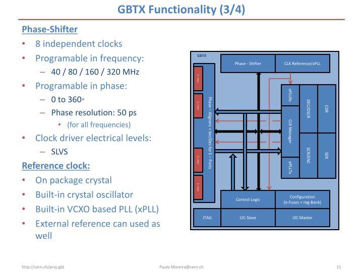 GBTX Functionality (3/4)