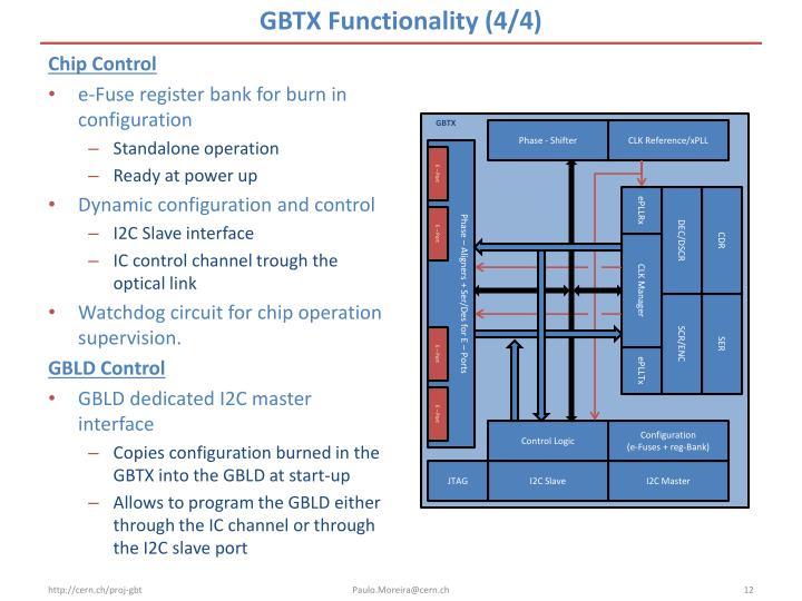 GBTX Functionality (4/4)