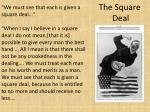 the square deal