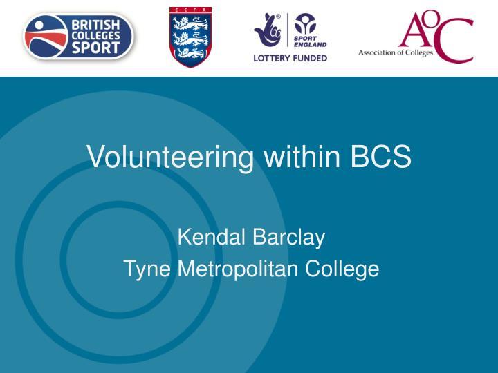 Volunteering within BCS