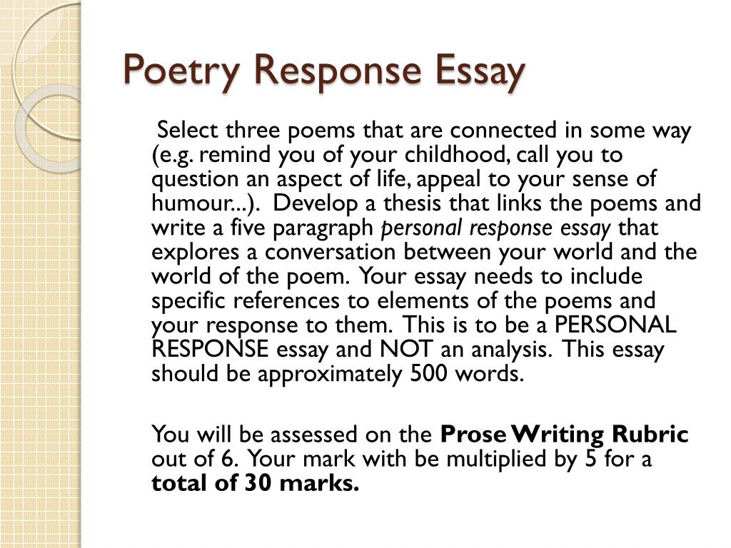 poetry essay example introduction