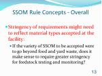 ssom rule concepts overall
