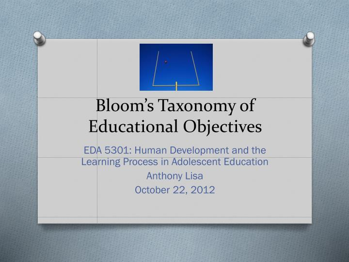 bloom s taxonomy of educational objectives n.