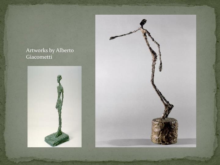 Artworks by Alberto Giacometti