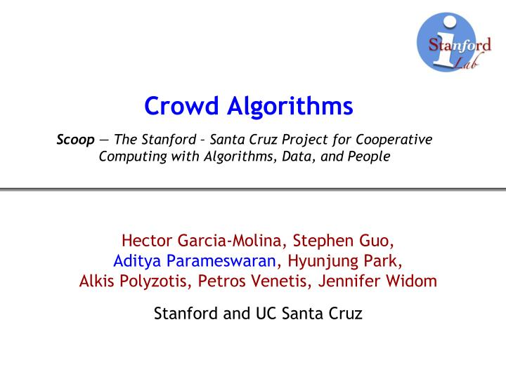 Crowd algorithms