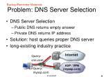 problem dns server selection