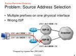 problem source address selection