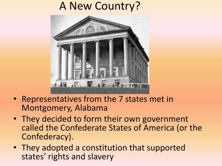 A New Country?