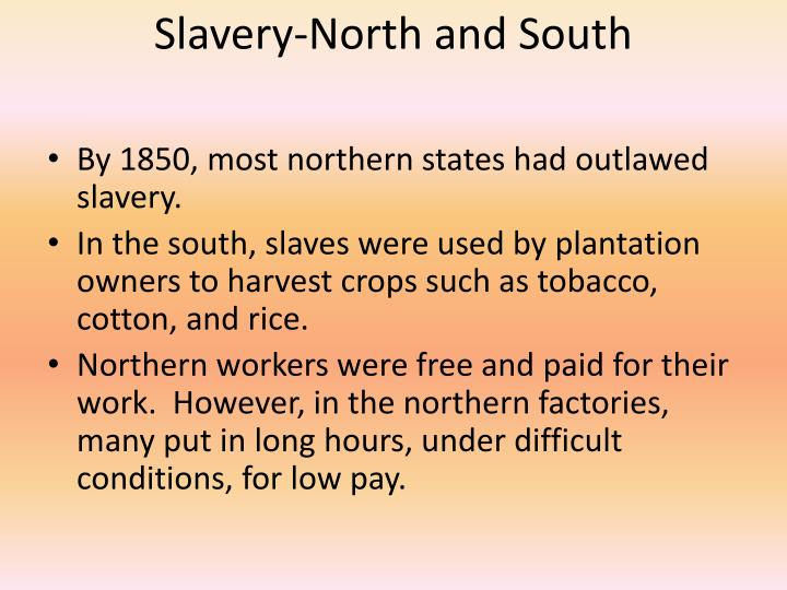 Slavery-North and South
