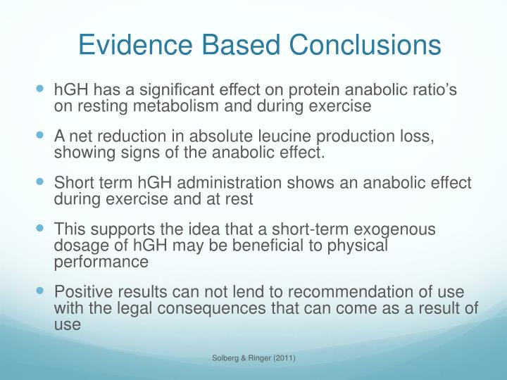 Evidence Based Conclusions