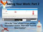 saving your work part 2