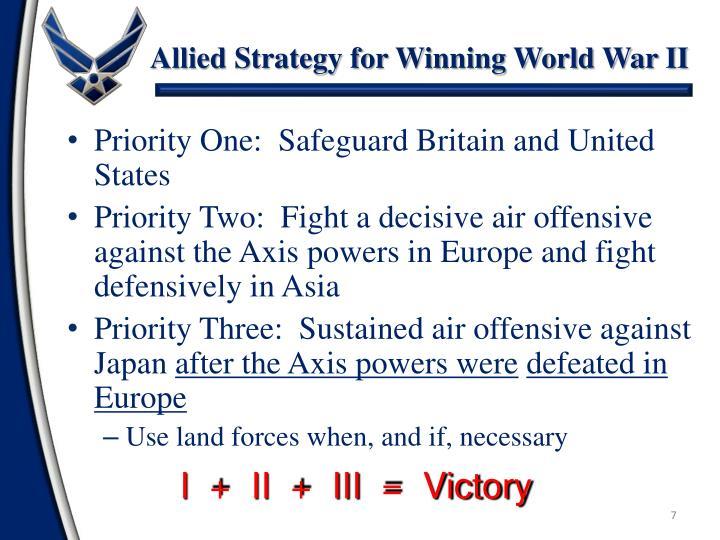 Allied Strategy for Winning World War II