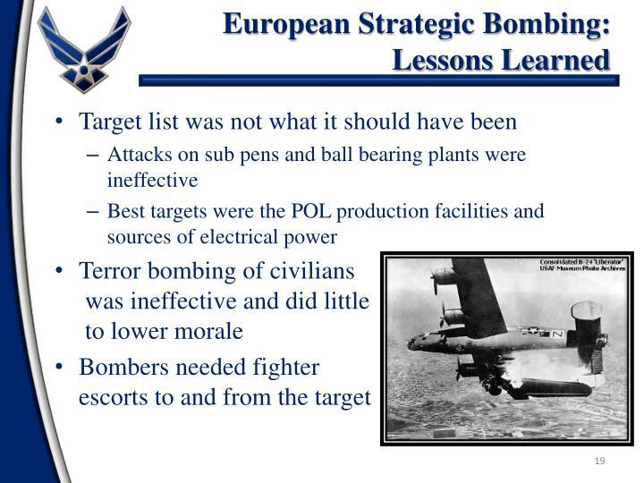 European Strategic Bombing: