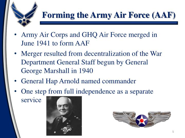 Forming the Army Air Force (AAF)