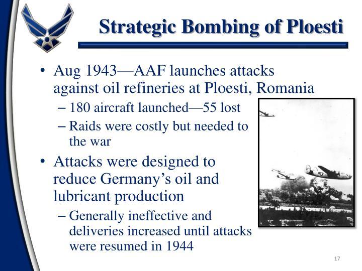 Strategic Bombing of Ploesti