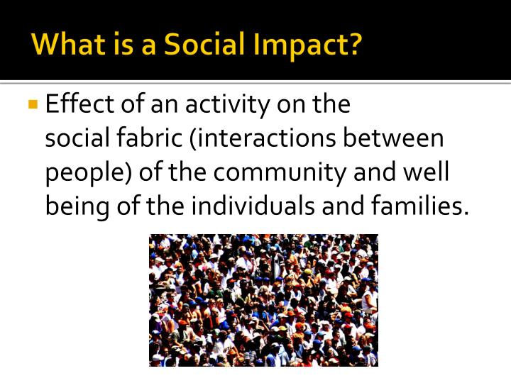 What is a Social Impact?