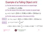 example of a falling object cnt d