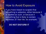 how to avoid exposure2