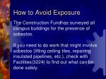 how to avoid exposure4