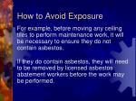 how to avoid exposure5