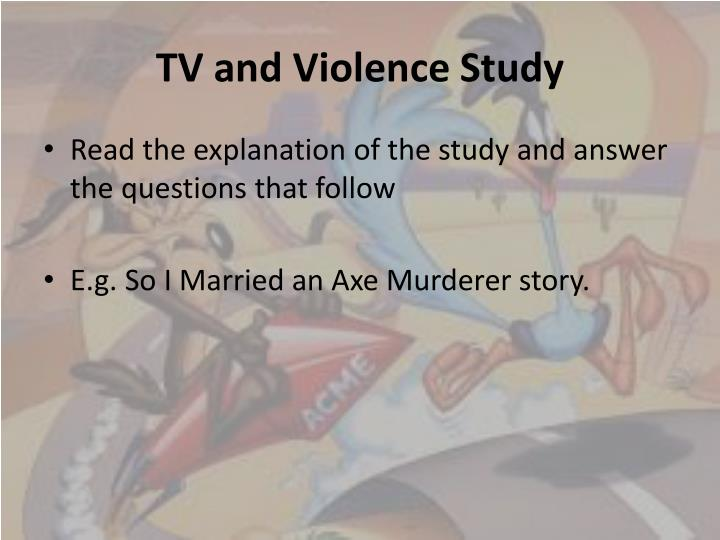 an analysis of the violence of the television Read chapter 3 causes and consequences of violence against women: violence against women is one factor in the growing wave of alarm about violence in am.
