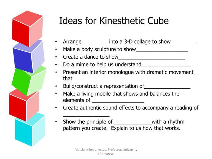 Ideas for Kinesthetic Cube