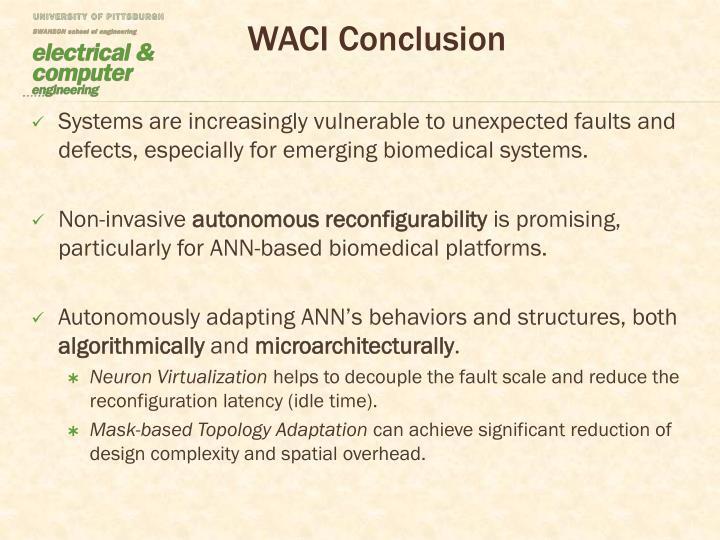 WACI Conclusion