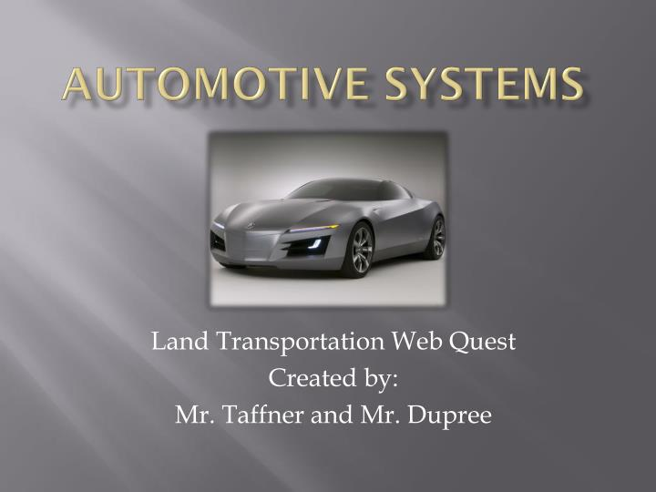 automotive systems n.